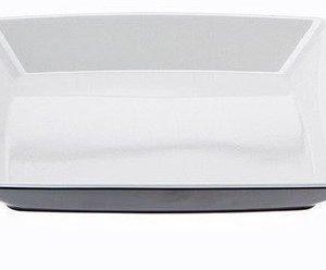 Gimex Quadrato lautanen musta/valkoinen 25x25cm