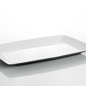 Gimex quadrato 35x25cm tarjoilulautanen musta/valkoinen muovia