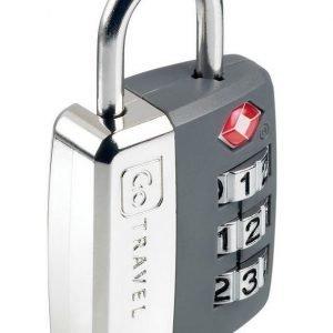 Go Travel Big Wheel Travel Sentry TSA hyväksytty numerolukko harmaa