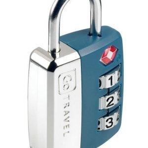 Go Travel Big Wheel Travel Sentry TSA hyväksytty numerolukko sininen