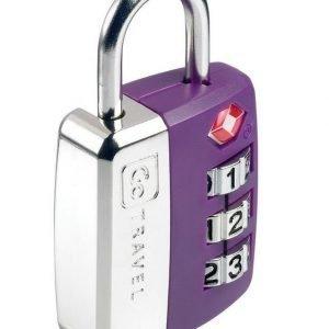 Go Travel Big Wheel Travel Sentry TSA hyväksytty numerolukko violetti