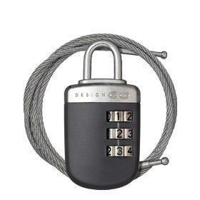 Go Travel Link-Lock vaijerilukko ja numerolukko harmaa