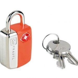 Go Travel Mini Glo Travel Sentry TSA hyväksytty avainlukko oranssi tuplapakkaus