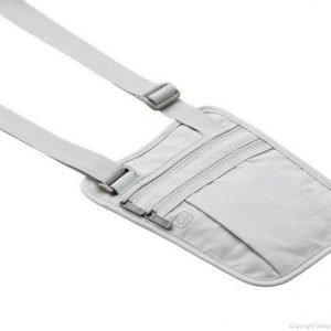 Go Travel Shoulder Wallet vaalean harmaa olkapussi