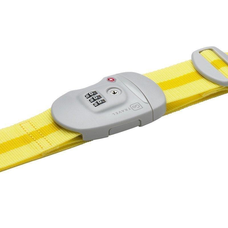 Go Travel Travel Sentry Strap TSA-hyväksytty tunnisteremmi keltainen