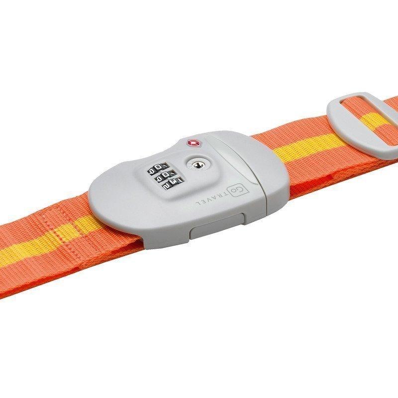 Go Travel Travel Sentry Strap TSA-hyväksytty tunnisteremmi oranssi