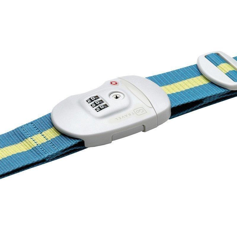 Go Travel Travel Sentry Strap TSA-hyväksytty tunnisteremmi sininen