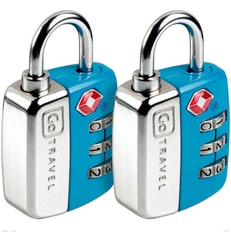 Go Travel Twin Travel Sentry TSA hyväksytty numerolukko sininen