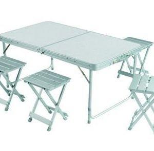 Grand Canyon Pack table Retkipäytä tuoleilla neljälle