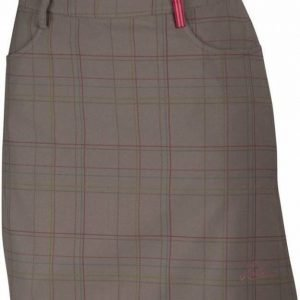 Halti Ilo Long Check Skirt Dark grey 38