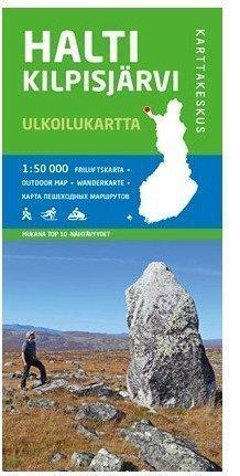Halti Kilpisjärvi 1:50 000 ulkoilukartta 2012