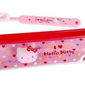 Hello Kitty hammasharja ja kotelo