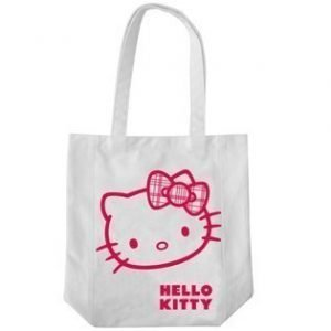 Hello Kitty kauppakassi rusetti valkoinen