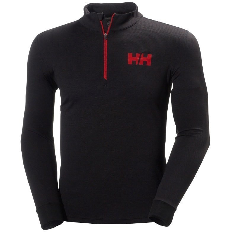 Helly Hansen HH Active Flow 1/2 Zip S Black/Flag Red