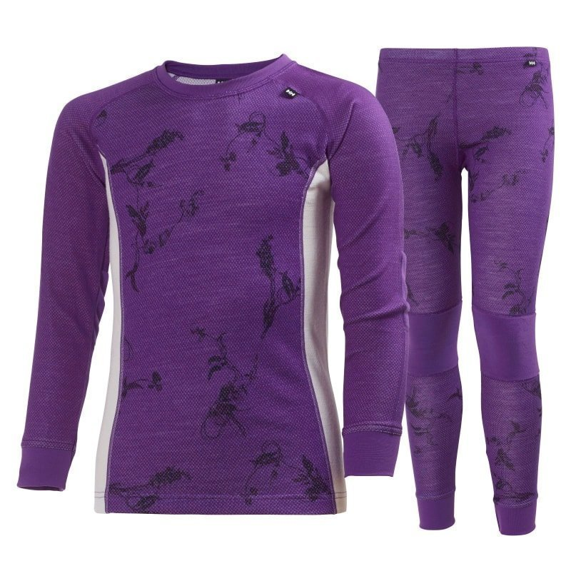 Helly Hansen Jr HH Warm Set 2 128 Sunburned Purple Symbios P