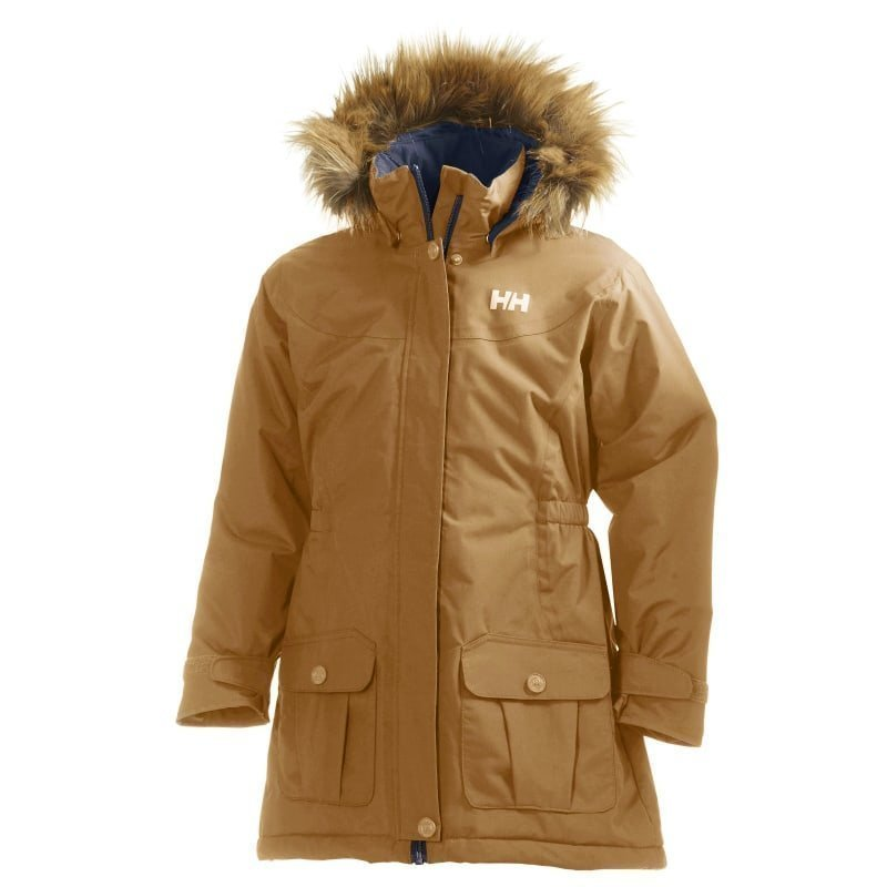 Helly Hansen Jr Stella Parka 140 Brunette Brown
