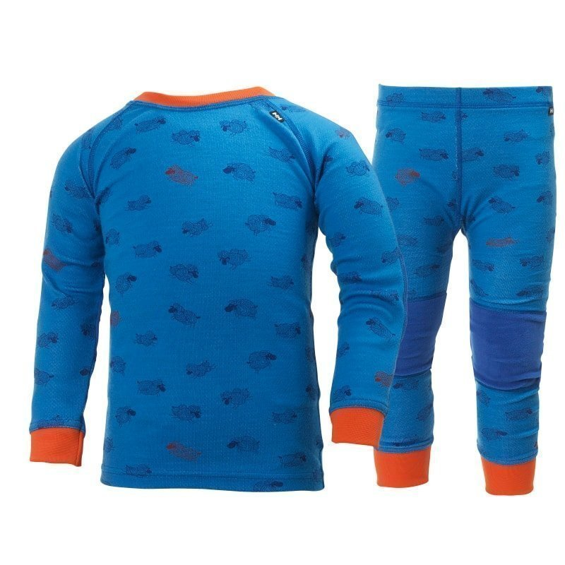 Helly Hansen K HH Warm Set 2 128 Racer Blue Print