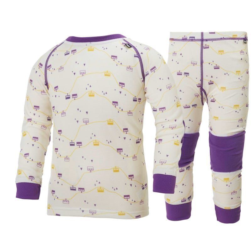 Helly Hansen K HH Warm Set 2 128 White/SB Purple Print