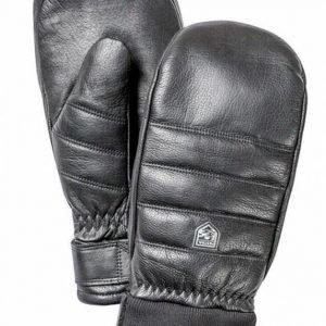Hestra Alpine Leather Primaloft Mitt rukkanen musta