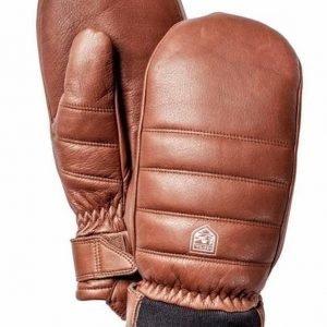 Hestra Alpine Leather Primaloft Mitt rukkanen ruskea