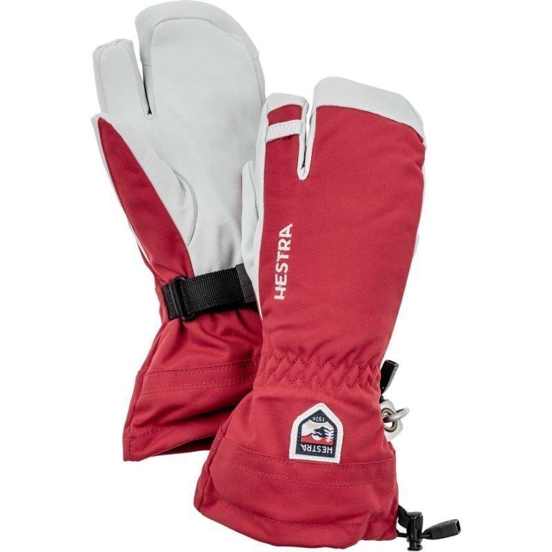 Hestra Army Leather Heli Ski 3 6 Red