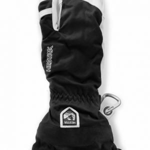 Hestra Army Leather Heli Ski 3-Finger musta