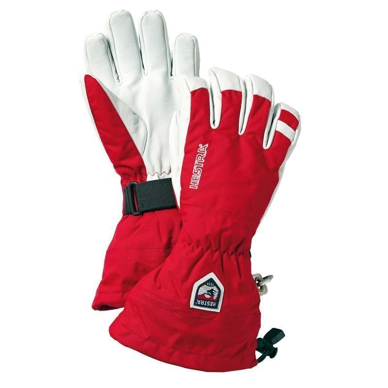 Hestra Army Leather Heli Ski 7 Red