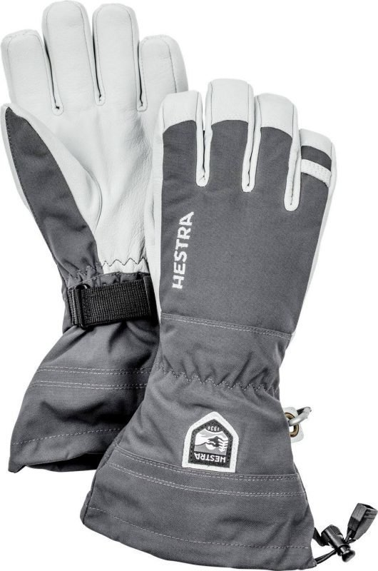 Hestra Army Leather Heli Ski Glove Harmaa 9