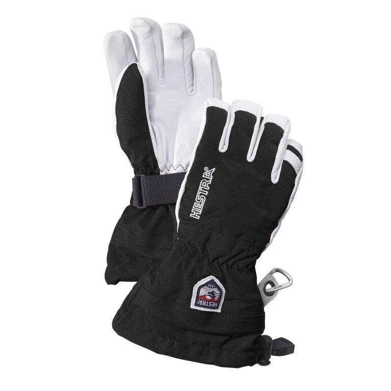Hestra Army Leather Heli Ski Jr 4 Black