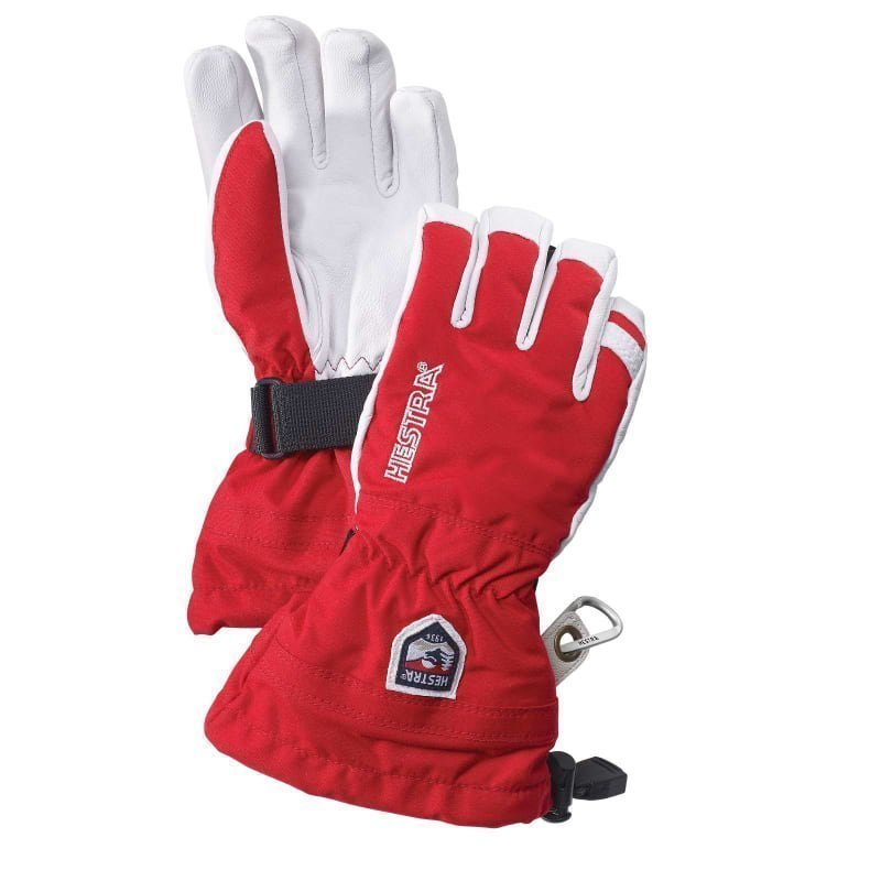 Hestra Army Leather Heli Ski Jr 5 Red