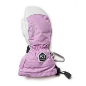 Hestra Army Leather Heli Ski Jr rukkanen pinkki