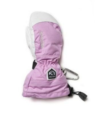 Hestra Army Leather Heli Ski Jr rukkanen pinkki