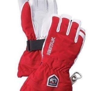 Hestra Army Leather Heli Ski Jr sormikas punainen