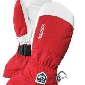 Hestra Army Leather Heli Ski rukkanen punainen