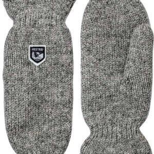 Hestra Basic Wool Mitt Vaaleanharmaa 9