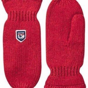 Hestra Basic Wool Mitt punainen lapanen