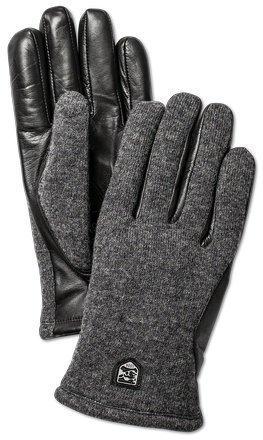 Hestra Classic Wool Tricot miesten grafiitti/musta sormikas