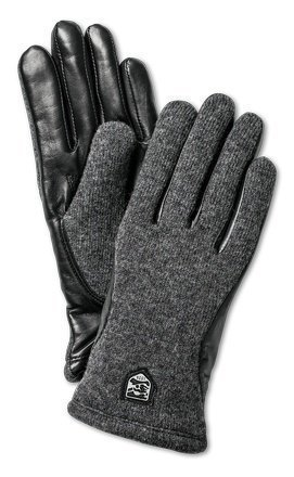 Hestra Classic Wool Tricot naisten sormikas musta/grafiitti