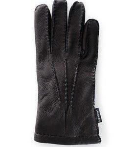 Hestra Deerskin Classic Wool sormikas musta