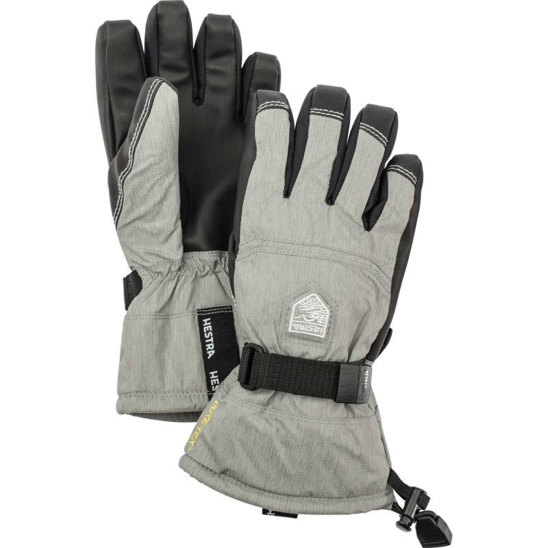 Hestra Gore-Tex Gauntlet Jr 4 Light Grey