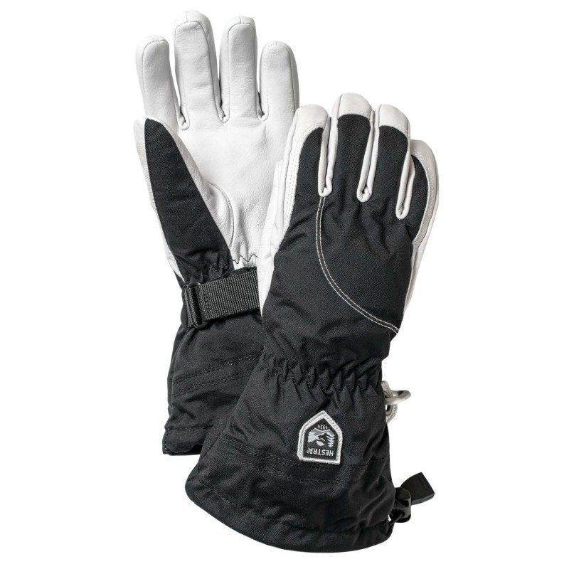 Hestra Heli Ski Female - 5 finger 6 Black/Offwhite