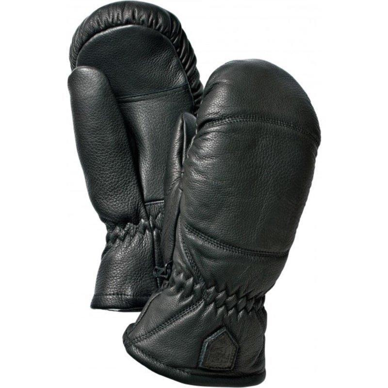 Hestra Leather Box Mitt 8 Black