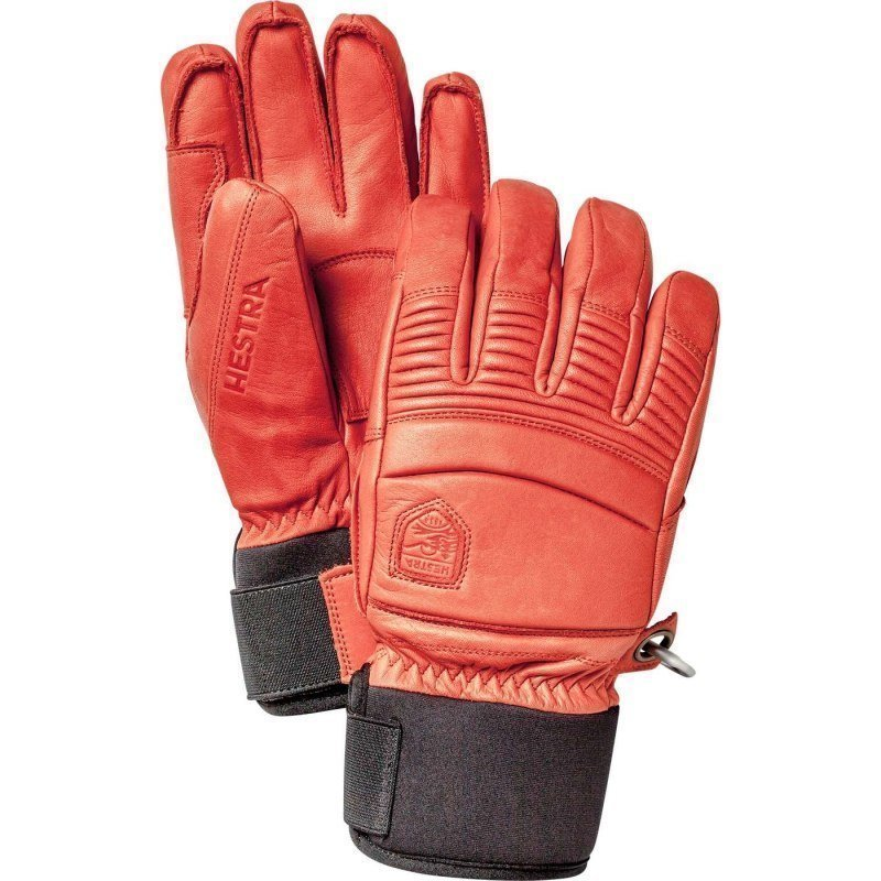 Hestra Leather Fall Line - 5-finger 7 Flame Red