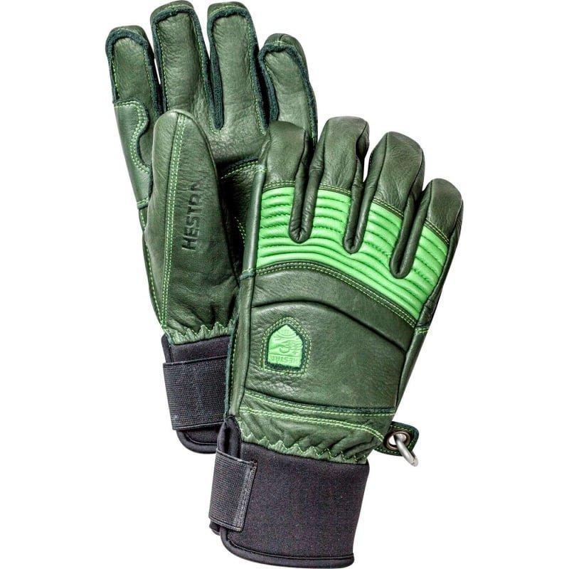 Hestra Leather Fall Line - 5-finger 8 Forest/Light Green