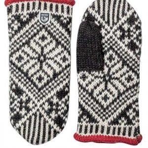 Hestra Nordic Wool Mitt rukkanen musta/valkoinen