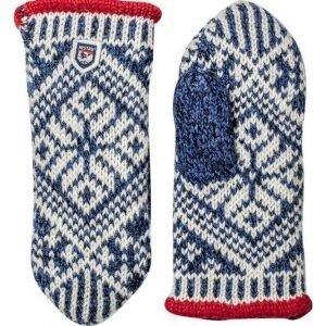 Hestra Nordic Wool Mitt rukkanen sininen/valkoinen