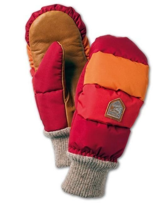 Hestra Swisswool Merino Loft rukkanen punainen