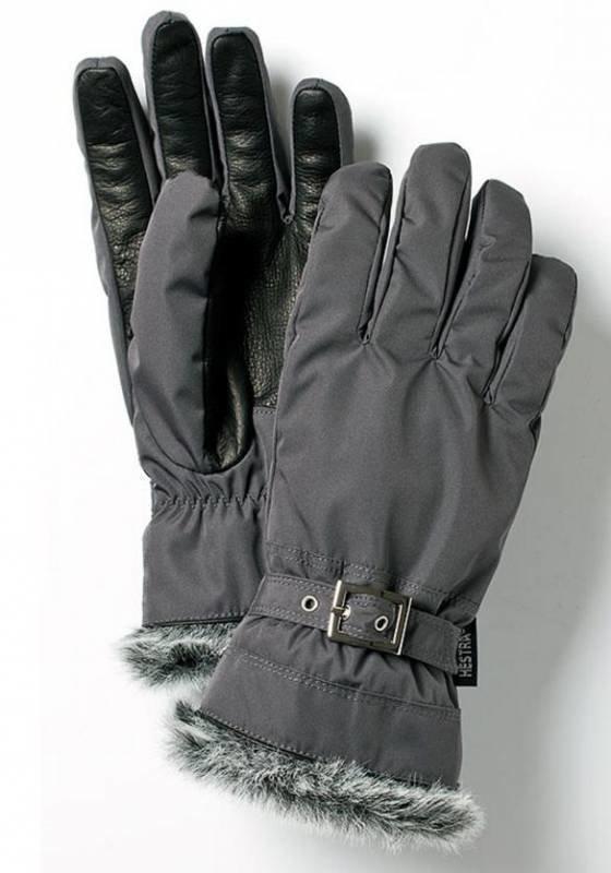 Hestra Winter Forest naisten sormikas harmaa