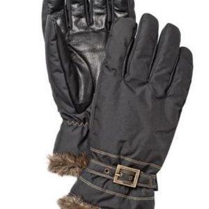 Hestra Winter Forest naisten sormikas musta