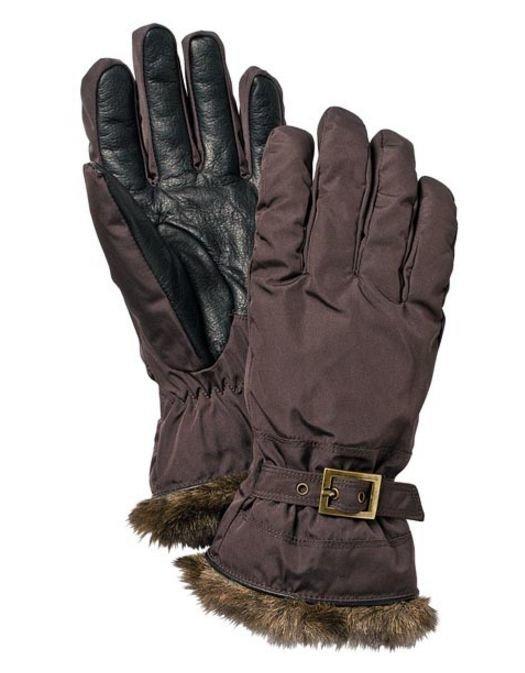 Hestra Winter Forest naisten sormikas ruskea